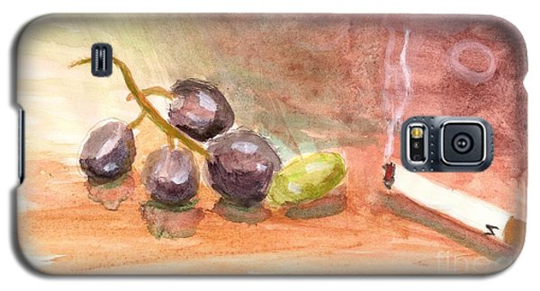 Galaxy S5 Case featuring the painting Grapeality by Rod Ismay