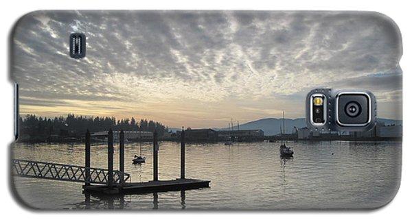 Galaxy S5 Case featuring the photograph Gray Day On Bellingham Bay by Karen Molenaar Terrell