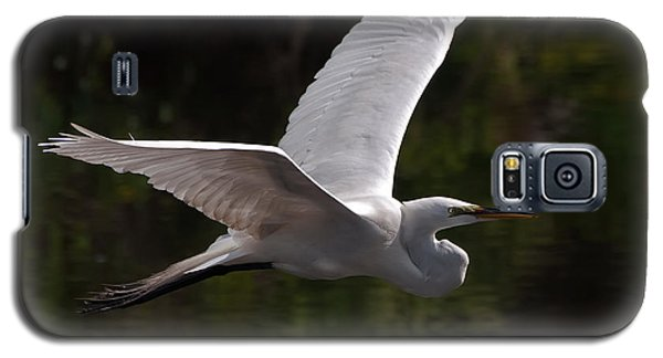 Great Egret Flying Galaxy S5 Case