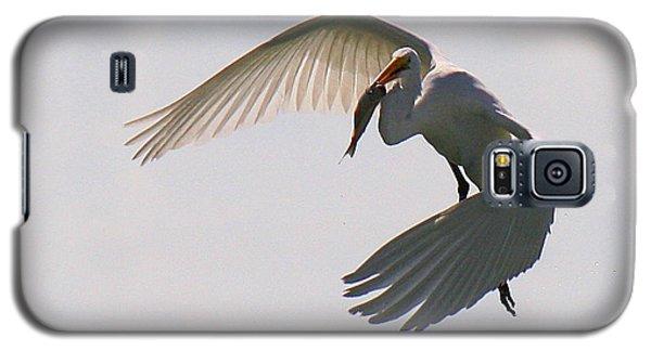 Great Egret Successful Fishing Galaxy S5 Case