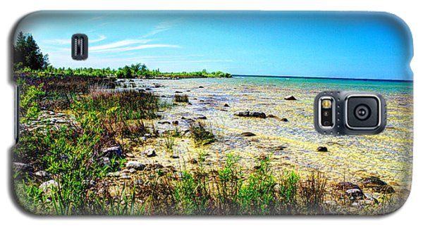 Galaxy S5 Case featuring the photograph Great Lakes Summer Shoreline by Janice Adomeit