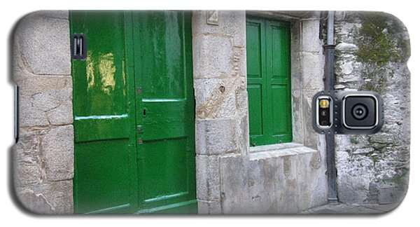 Galaxy S5 Case featuring the photograph Green Door by Arlene Carmel