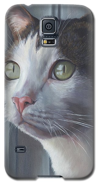 Green Eyed Cat Galaxy S5 Case by Alecia Underhill