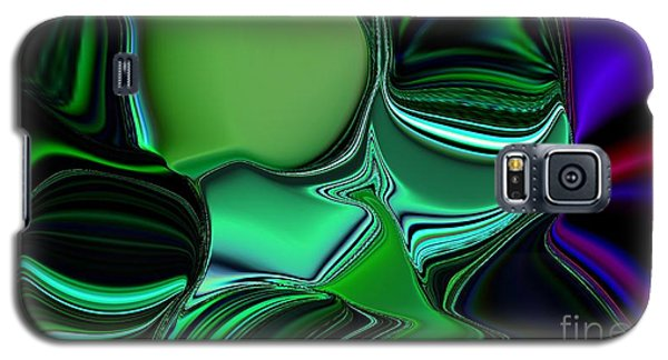 Galaxy S5 Case featuring the digital art Green Nite Distortion 3 by Greg Moores