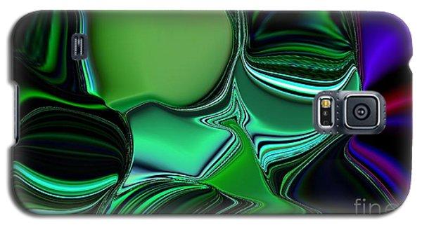 Green Nite Distortion 3 Galaxy S5 Case