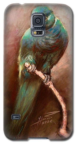 Parrot Galaxy S5 Case - Green Parrot by Ylli Haruni