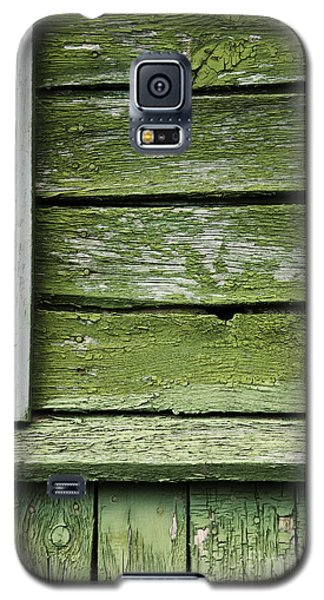 Galaxy S5 Case featuring the photograph Green Wooden Wall by Agnieszka Kubica