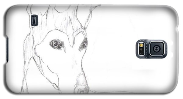 Galaxy S5 Case featuring the drawing Greyhound by George Pedro