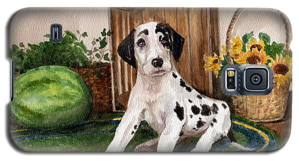 Galaxy S5 Case featuring the painting Growing Fast by Nancy Patterson
