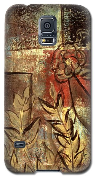 Galaxy S5 Case featuring the painting Growing Wild by Kathy Sheeran