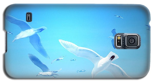 Galaxy S5 Case featuring the digital art Gulls In Flight by Michele Cornelius