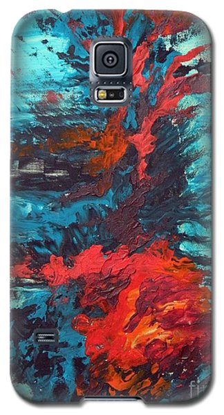 Galaxy S5 Case featuring the painting Gut Feeling by Everette McMahan jr