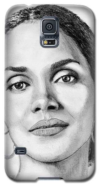 Galaxy S5 Case featuring the drawing Halle Berry In 2008 by J McCombie