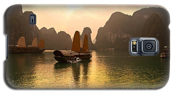 Galaxy S5 Case featuring the photograph Halong Bay - Vietnam by Luciano Mortula