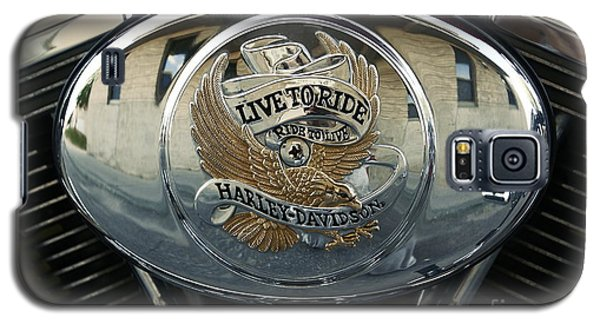 Harley Davidson Bike - Chrome Parts 44c Galaxy S5 Case by Aimelle