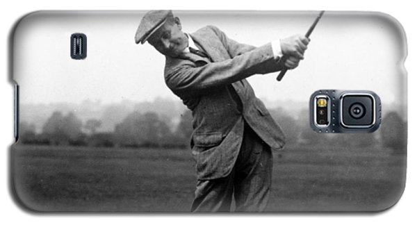 Galaxy S5 Case featuring the photograph Harry Vardon Swinging His Golf Club by International  Images
