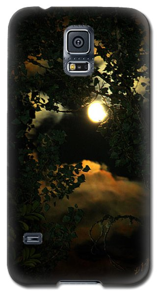 Galaxy S5 Case featuring the photograph Haunting Moon by Jeanette C Landstrom