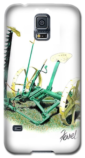 Galaxy S5 Case featuring the painting Hay Cutter by Ferrel Cordle