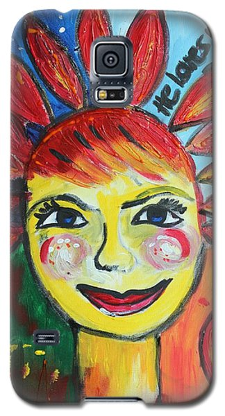 Galaxy S5 Case featuring the painting He Loves Me  by Sladjana Lazarevic