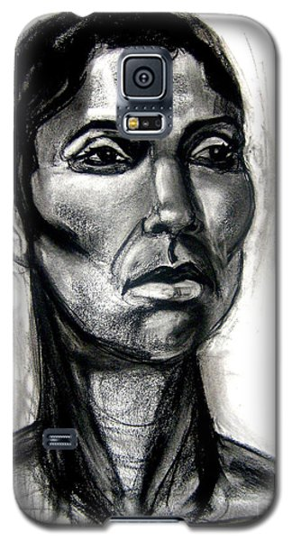 Galaxy S5 Case featuring the drawing Head Study by Gabrielle Wilson-Sealy