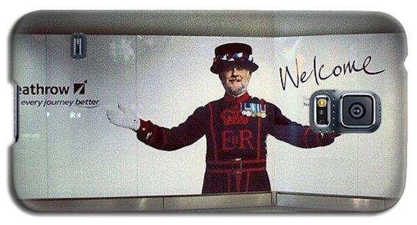 London Galaxy S5 Case - #heathrow #airport #london #welcome by Abdelrahman Alawwad