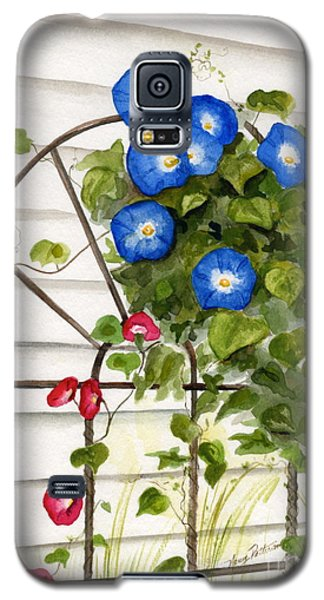 Galaxy S5 Case featuring the painting Heavenly Blues by Nancy Patterson
