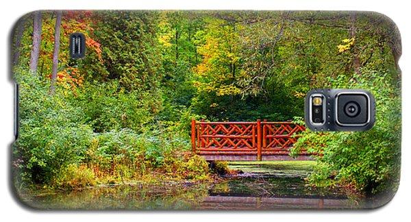 Henes Park Pond Bridge Galaxy S5 Case