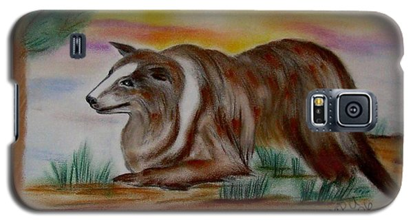 Galaxy S5 Case featuring the drawing Herding Collie by Maria Urso