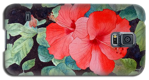 Galaxy S5 Case featuring the painting Hibiscus by Laurel Best