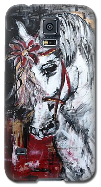 Galaxy S5 Case featuring the painting Hiding Something? by Sladjana Lazarevic