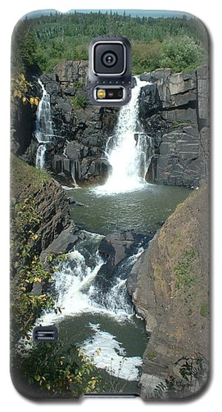 Galaxy S5 Case featuring the photograph High Falls Grand Portage by Bonfire Photography