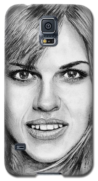Galaxy S5 Case featuring the drawing Hilary Swank In 2007 by J McCombie