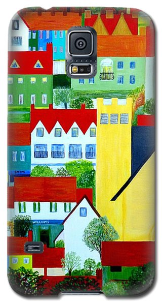 Galaxy S5 Case featuring the painting Hillside Village by Barbara Moignard