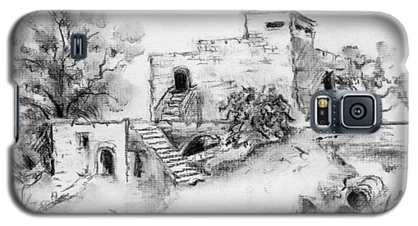 Hirbe Landscape In Afek Black And White Old Building Ruins Trees Bricks And Stairs Galaxy S5 Case