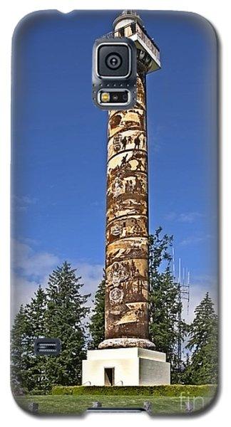 Galaxy S5 Case featuring the photograph Historic Landmark Of Astoria Oregon Column by Valerie Garner