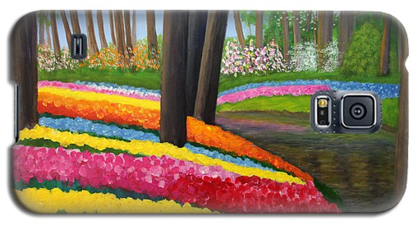 Galaxy S5 Case featuring the painting Holland Gardens by Janet Greer Sammons
