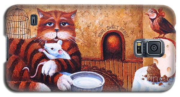 Galaxy S5 Case featuring the painting Home Sweet Home by Igor Postash