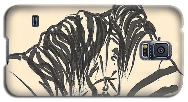 Galaxy S5 Case featuring the painting Horse - Together 9 by Go Van Kampen