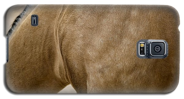 Galaxy S5 Case featuring the photograph Horse Bending Neck by Lorraine Devon Wilke
