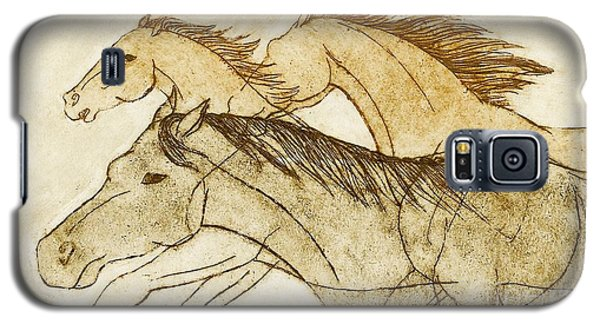 Galaxy S5 Case featuring the drawing Horse Sketch by Nareeta Martin