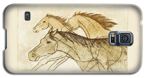 Horse Sketch Galaxy S5 Case by Nareeta Martin