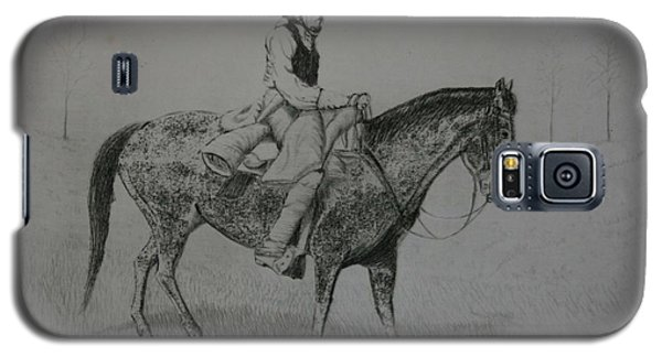 Galaxy S5 Case featuring the drawing Horseman by Stacy C Bottoms