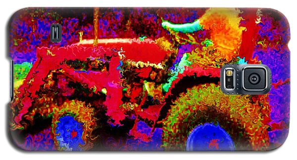 Galaxy S5 Case featuring the photograph Hot Afternoon On A John Deere Tractor by George Pedro