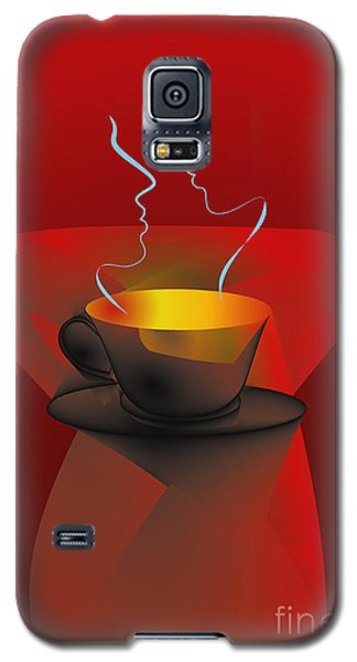 Galaxy S5 Case featuring the digital art Hot Coffee by Leo Symon