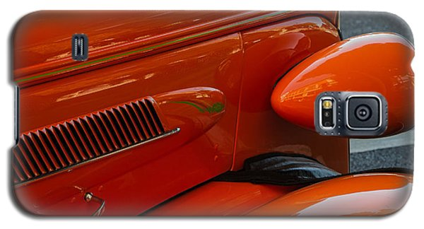 Galaxy S5 Case featuring the photograph Hot Rod Orange by Ken Stanback