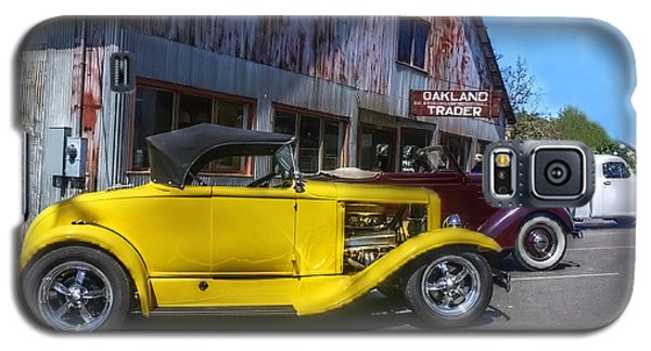 Galaxy S5 Case featuring the photograph Hotrods At The Trader by Tyra  OBryant