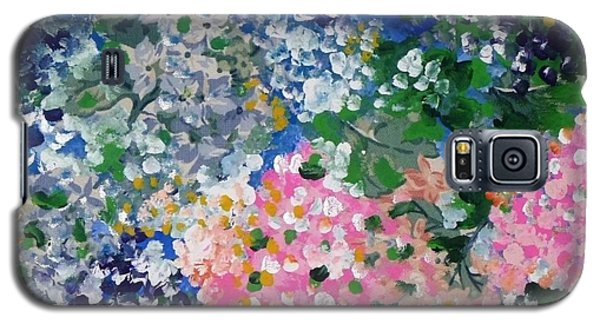 Galaxy S5 Case featuring the painting Hydrangeas I by Alys Caviness-Gober