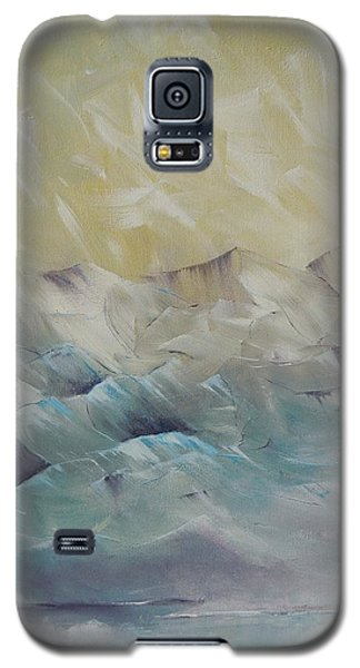 Galaxy S5 Case featuring the painting I Like It When It's Cold  by Dan Whittemore