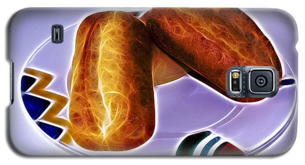Galaxy S5 Case featuring the digital art I Love Bread by James Ahn