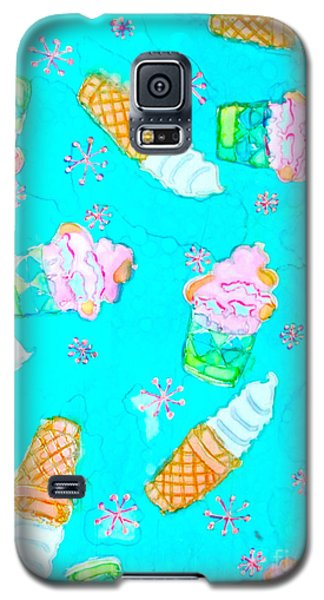 Galaxy S5 Case featuring the painting Ice Cream I Scream by Beth Saffer